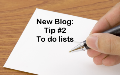 Tip #2 – To do lists