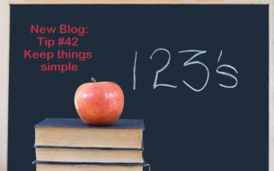 Tip #42 – Keep things simple