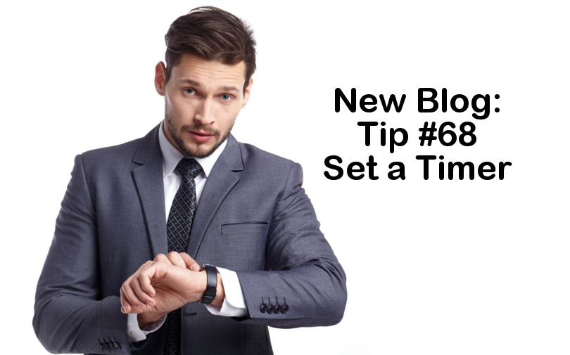 Tip #68 – Set a timer